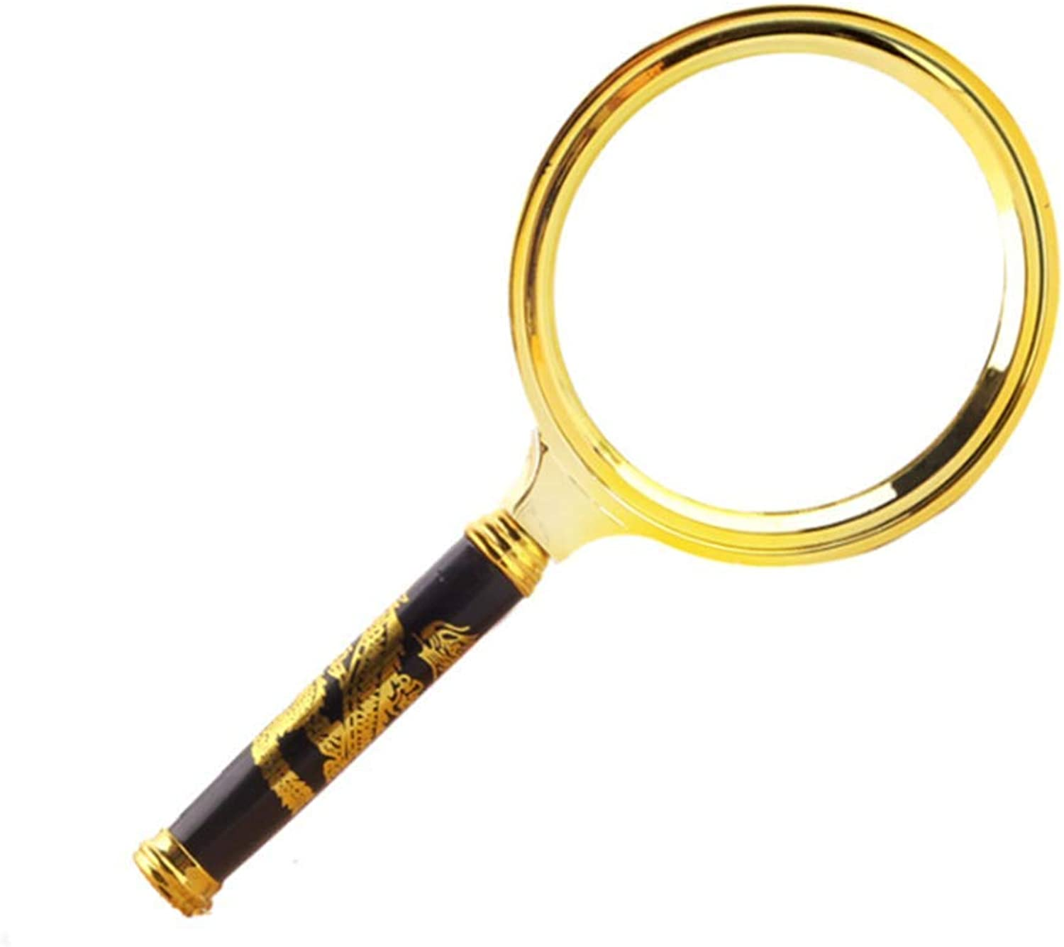 NYDZ Vintage Handle Handheld Magnifying Glass, Portable Old Man Reading 5 Times Magnifying Glass (Size   60mm)