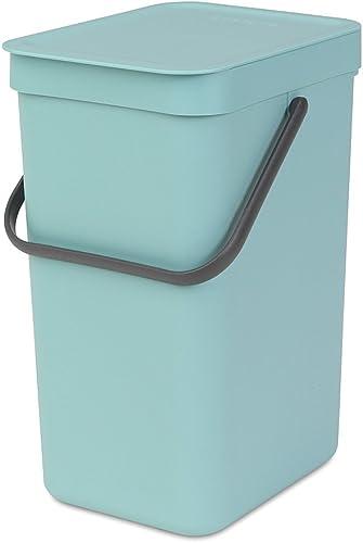 Brabantia 109744 Waste Bin Sort & Go 12L Sort Bin, Mint, 1 Piece