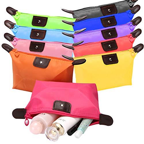 Zuzer 10PCS Pochette Trucchi Donna Make Up Bag Cosmetic Bag Beauty Case Make Up Organizer per Donne Bambini