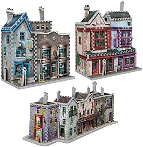 Puzzle 1050 Teile - 3 x 3D Puzzles - Set Harry Potter