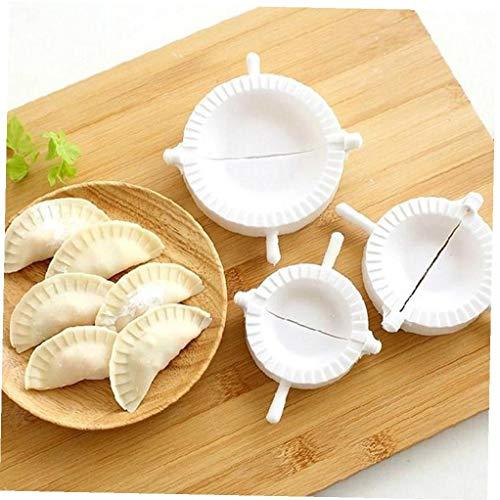 Bongles 3 Stück Dumpling Maker Dumpling Chinese Dumpling Moulds Cutter Pie Empanadas Ravioli-Form Küchenzubehör
