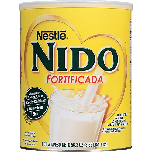 Nestle NIDO Fortificada Whole Milk Powder 56.4 oz. Canister Powdered Milk Mix