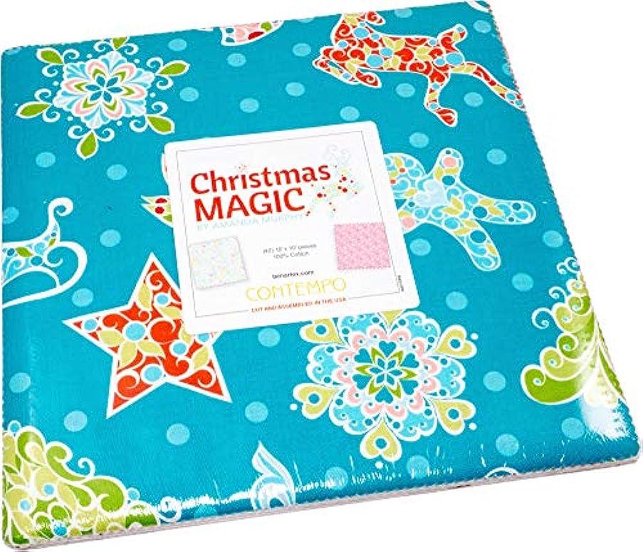 Amanda Murphy Christmas Magic 10X10 Pack 42 10-inch Squares Layer Cake Benartex