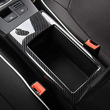 Hdcf Auto Mittelkonsole Armlehne Aufbewahrungsbox Rahmen Dekoration Abdeckung Trim Abs Für A3 8 V 2014 18 Innen Kohlefaser Stil Auto