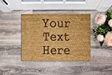 Active Window Films Personalised Genuine Coir Door Mat/Heavy Duty Home Entrance Matting Large (Just Text)