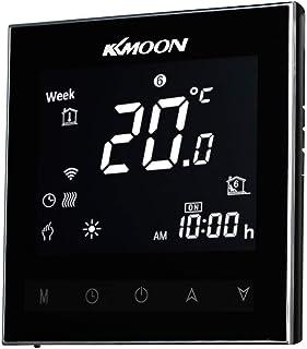 Termostato,Baugger- Caldera digital de agua/gas Termostato de calefacción Ahorro de energía Pantalla táctil Pantalla LCD