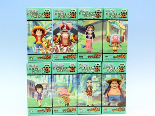 One Piece World Collectable Figure 23 Banpresto (all eight species full comp set + Poster with extra) (japan import)