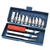 Outgeek 13PCS 3D Stampante Strumento Kit Alluminio Lega Rifinitura Strumento Stampante Pulito su Kit