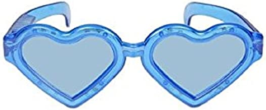 Mammoth Sales 1 Pair of LED Flashing Light Up Huge Jumbo Heart Valentines Day Glasses Shades