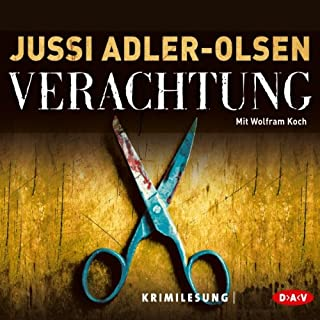 Verachtung     Carl Mørck 4              Autor:                                                                                                                                 Jussi Adler-Olsen                               Sprecher:                                                                                                                                 Wolfram Koch                      Spieldauer: 17 Std. und 26 Min.     3.004 Bewertungen     Gesamt 4,6