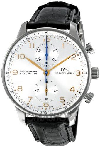 IWC IWC Portoghese Argento Quadrante Cronografo Meccanica Mens Orologio...