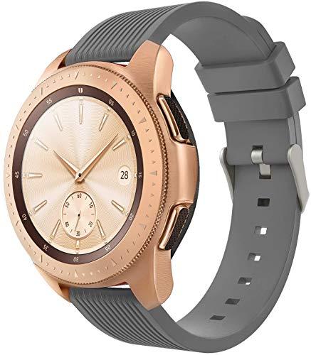 Gransho Uhrenarmband 20mm, Premium Weiches Silikon Verstellbarer Ersatzgurt (20mm, Grau)