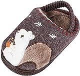 Rmoon - Pantuflas de algodón Suaves para niños, con Antideslizante y cálidas, Zapatillas de Invierno para niños, de algodón, Color Liso Size: 28 EU