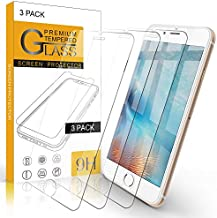 Arae Screen Protector for iPhone 6 / iPhone 6s / iPhone 7 / iPhone 8 / iPhone SE 2020, HD Tempered Glass Anti Scratch Work with Most Case, 4.7 inch, 3 Pack