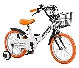 GRAPHIS(グラフィス) 補助輪付き子供用自転車 GR-16 14インチ / ホワイトオレンジ