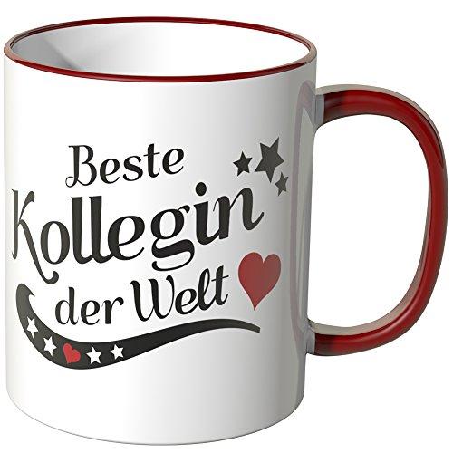 Wandkings® Tasse, Spruch: Beste Kollegin der Welt - ROT