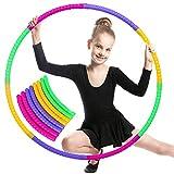 Hula Hoop Fitness niños,Hula Hoop Fitness Desmontable, Hula Hoop para Deportes e Ejercicios, Aro de Fitness, Aro de...