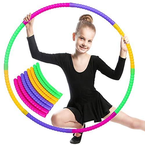 Hula Hoop Fitness niños,Hula Hoop Fitness Desmontable, Hula Hoop para Deportes e Ejercicios, Aro de Fitness, Aro de Fitness Desmontable, Hula Hoop para niños (A)