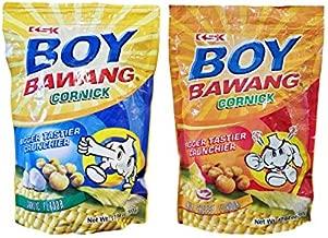 Boy Bawang Filipino Cornick Corn Nut Garlic & Chili Cheese Bundle 2 Pack Snack