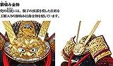 五月人形 久月 鎧平飾り 鎧飾り 平安一水作 本金箔押 黒小札正絹赤糸縅 総裏 15号 獅噛大鎧 h025-k-21910 K-39