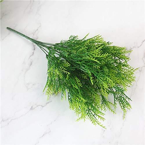 SUNMU Nep Planten Varen Gras Muur Outdoor Decor Groen Blad Kunstbloemen Kunststof Voor Home Decoratie