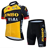 HXXBY 2021 Ciclismo Jersey Tour de France Team Squadra Ciclismo Camicia da Ciclismo Uomo Maglia da Ciclismo Asciugatura Rapida Asciugatura Asciugatura Asciuga
