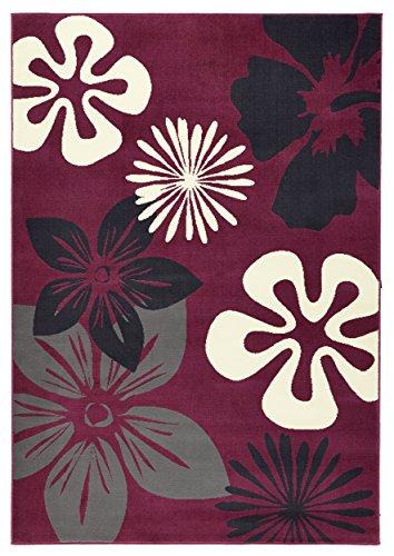 Hanse Home Flora Tapis à poils courts Violet 160 x 230 cm