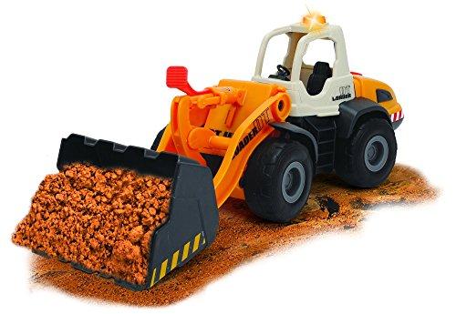 Dickie Toys Construction Radlader, Spielzeugauto, verstellbare Schaufel, batteriebetriebener Arm, Licht & Sound, inkl. Batterien, 35 cm, ab 3 Jahren