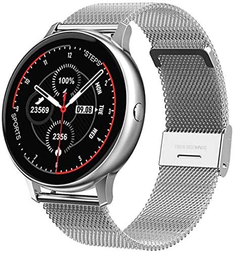 Reloj Multifuncional Pulsera Inteligente con Monitoreo de Ritmo Cardíaco Deportivo Impermeable con Reproducción de Música Pantalla HD Pulsera Deportiva Bluetooth Negro (Cinturón)-Negro (Cinturón)