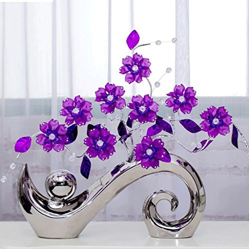 Ywyun I moderni decorazioni per la casa minimalista, Decorazione fiore di cristallo camera da letto / soggiorno / ufficio, 43 * 41 centimetri ( Colore : Viola )