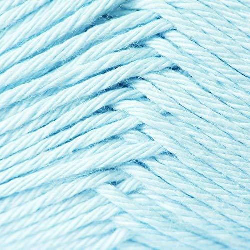 Rico Baby Cotton Soft dk Fb. 003 hellblau, weiche Babywolle ohne Wolle zum Stricken oder Häkeln