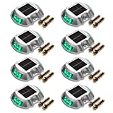 Solar Deck Lights 8-Pack JACKYLED Solar Dock Lights Bright Blue Path Road Long Service Time LED Light Weatherproof Wireless Outdoor Warning Step Lights for Driveway Garden Walkway Backyard Step