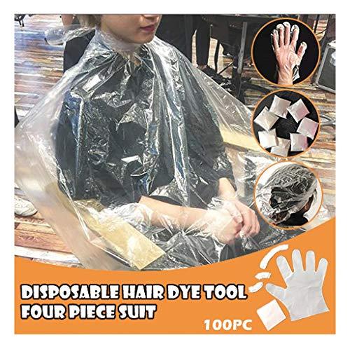 Momola Ensemble D'Outils De Coloration De Cheveux Jetables Bonnet De Douche Cache-Oreilles Gants ChâLe 10 Pack
