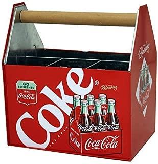 The Tin Box Company 772377-12 Coca Cola Large Galvanized Utensil Holder by The Tin Box Company