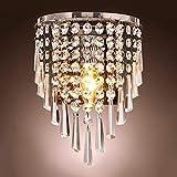 Lightess Apliques de Pared Cristal Moderna Lámpara de Pared Interior Casquillo E14 40W Luz Elegante Iluminación para Sala de Estar, Dormitorio, No Incluye Bombilla