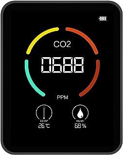 Détecteur De Qualité De L'air, Instrument De Mesure De CO2, Capteur Qualité De L'air Intérieur avec Écran LCD Et Rétroécla...