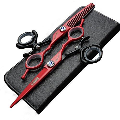 Tijeras de pelo de 15,24 cm, acero japonés de alta dureza 440c...