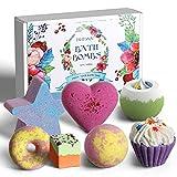 BuFan Bombas de baño, 7PCS Set de regalo de bolas de baño Baño de Burbujas Sales de Baño Relajantes y Divertidos, SPA Cuerpo de Relajante,Regalo Cumpleaños Valentin Navidad