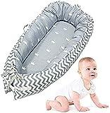 Silla de bebé, cunas de recién nacidos transpirables muy suaves portátiles, la comodidad y la seguridad del capullo cama de bebé recién nacido 0-24 meses,Grey