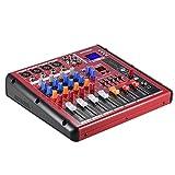Asdomo Digital BT 4-Channel Mic Line Mixer audio Mixer Console per registrazione DJ Stage ...