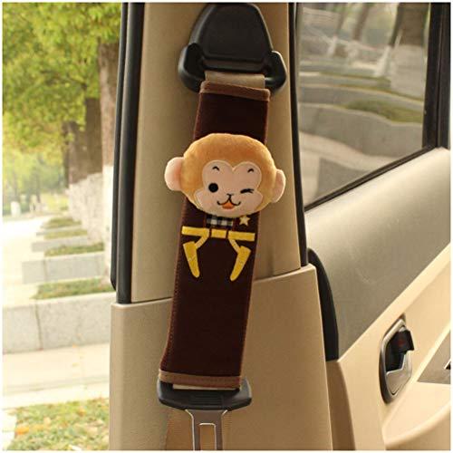 GAOJIAN Almohadillas Protectores de Coche Hombro,Protector Cinturon Coche Correa de Seguridad extendida Funda de Desgaste Suave,Cómodo de Llevar Seat Belt Pads Little Monkey