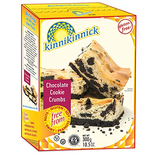Kinnikinnick Gluten Free Chocolate Cookie Crumbs, 10.5oz/300g (Pack of 6)
