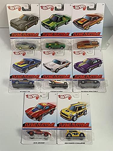 Hot Wheels Flying Customs 8 Juego de coche escala 1:64 GJW93 999A