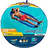 SwimWays Spring Float Original Pool Lounge Chair with Hyper-Flate Valve, Blue