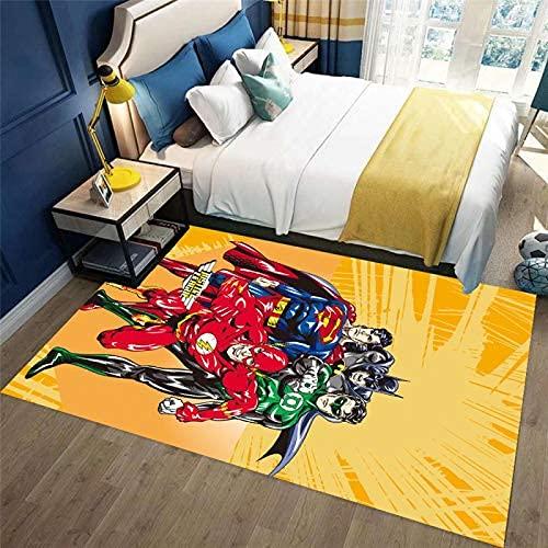 xiangpiaopiao Tapis Tapis Creative Graffiti Spiderman Batman 3D Imprimé Décor À La Maison Antidérapant Tapis Doux (12739Dt) 140X200Cm