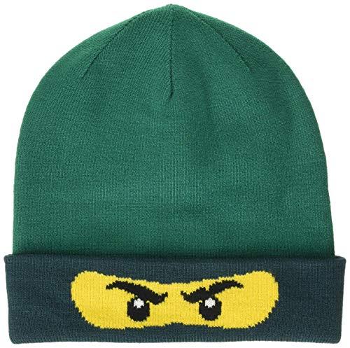 Lego Wear Jungen Lego Ninjago LWALFRED 708-Strickmütze Mütze, Grün (Dark Green 875), (Herstellergröße:56)
