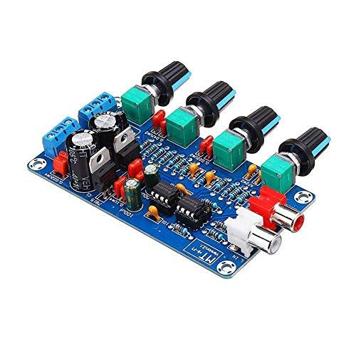 Placa de amplificador Preamplificador de amplificador HIFI OP-AMP de función completa Puede ajustar la salida Placa de control de tono de volumen Seguro y duradero