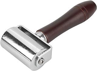 60mm Rouleau De Pression pour Cuir en Acier Au Carbone, Rouleau Bord Collé de Travail pour Cuir Outil de Presse Maroquiner...