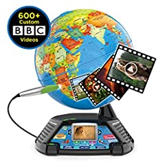 Go beyond countries and their capitals with this enhanced globe that explores cultures, animals, habitats, and more through 5+ hours of BBC videos Tap anywhere using the stylus to hear thousands of facts, interact with unique games and trigger videos...
