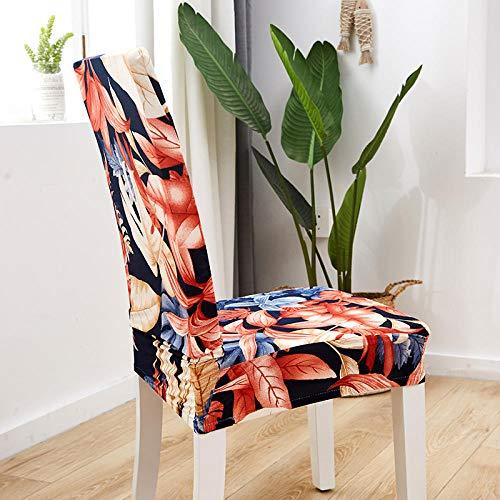 LJJFZP - Fundas para sillas de comedor, 4 piezas modernas y elásticas, montaje retráctil universal es simple y duradero, extraíble lavable silla cubre hermosa flor